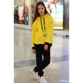 Костюм спортивный с карманом жёлтый