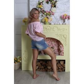 Кофточка розовая с планкой