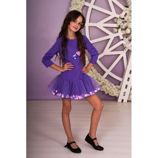 Платье фиолетовое с шариками