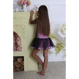 Платье-сетка розовое с шариками